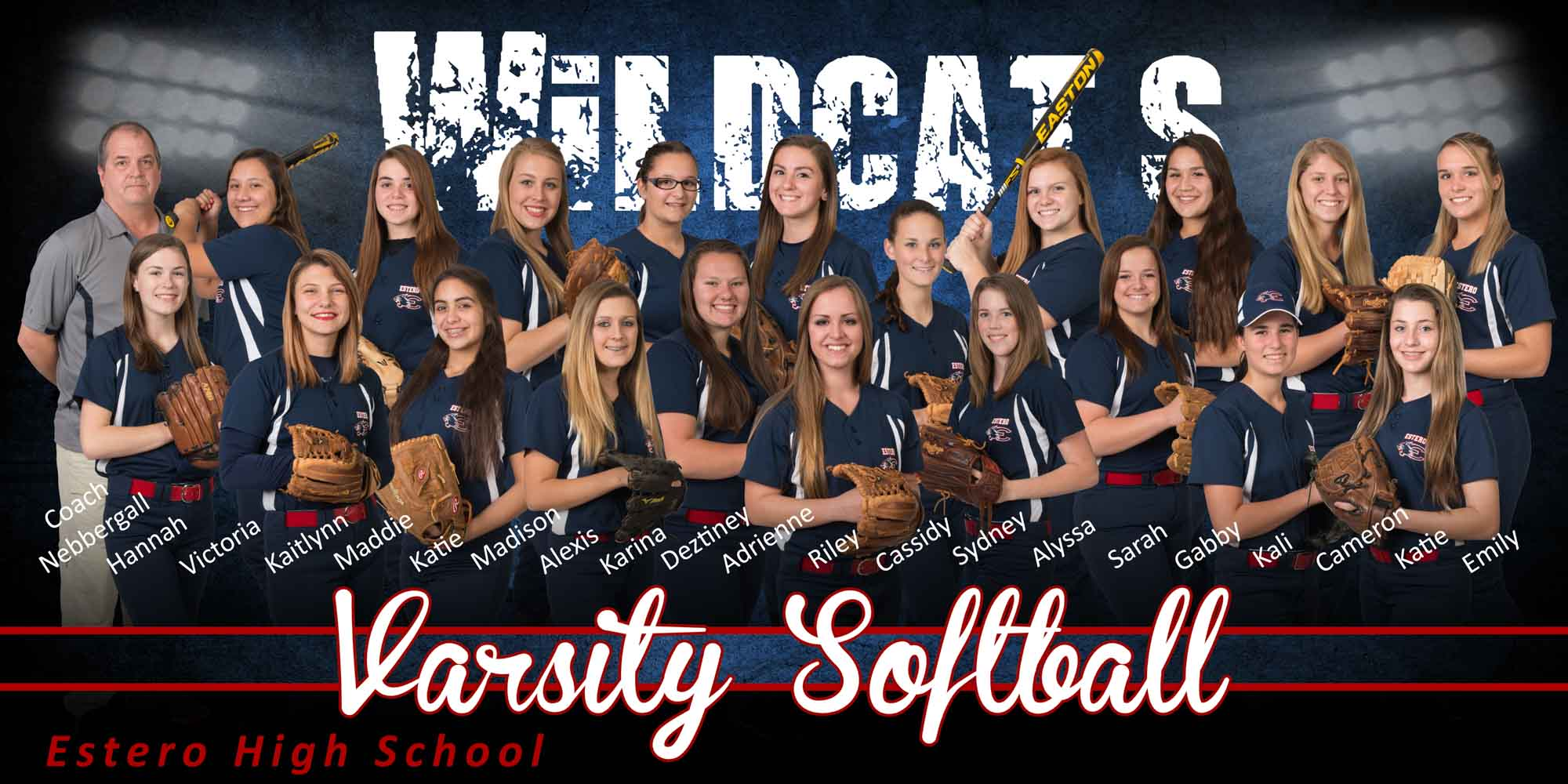 2015 Softball Team flattened